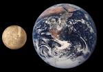 Merkür ile Yer'in boyutlarının karşılaştırılması