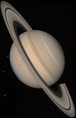 Satürn Voyager 2 den çekilmiş