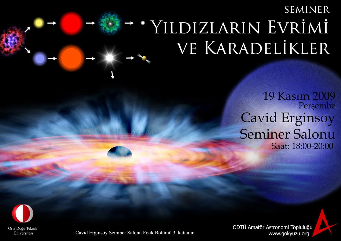 Yıldızların Evrimi ve Karadelikler Semineri