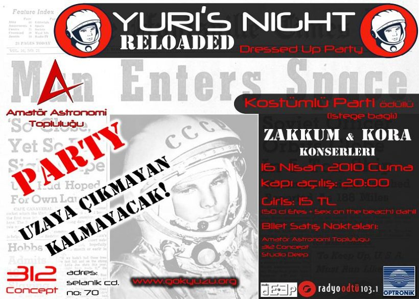 Yuri's Night Reloaded - Kostümlü Parti