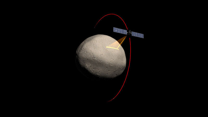 Dawn Uzay Aracı Vesta'ya Yaklaşıyor