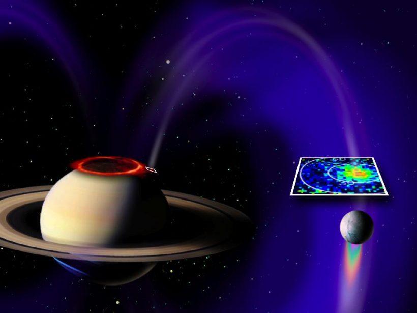 Cassini, Satürn ile Enceladus Arasındaki Elektriksel Bağlantıyı Gözlemledi