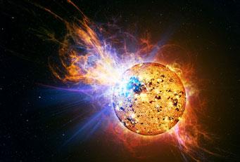 Güneş Tipi Yıldızların Süper Patlamaları
