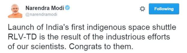 Modi's Tweet