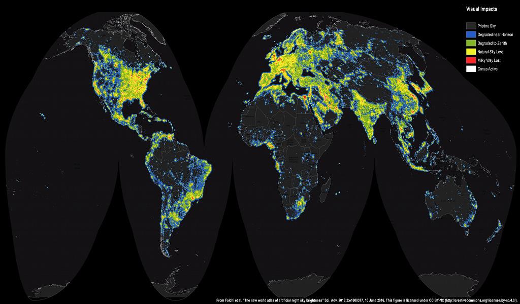 Dünya'nın Yeni Yapay Gök Atlası