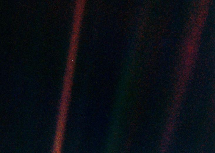 Soluk mavi nokta. Telif: NASA