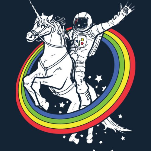 Funny-Astronaut-Riding-a-Unicorn
