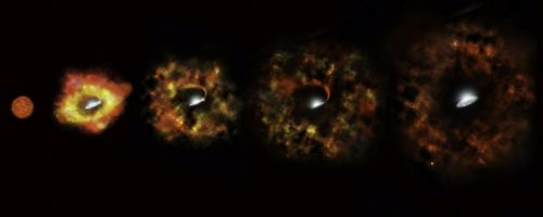 Massive Star Goes Out With a Whimper Instead of a Bang (Artist's Illustration)