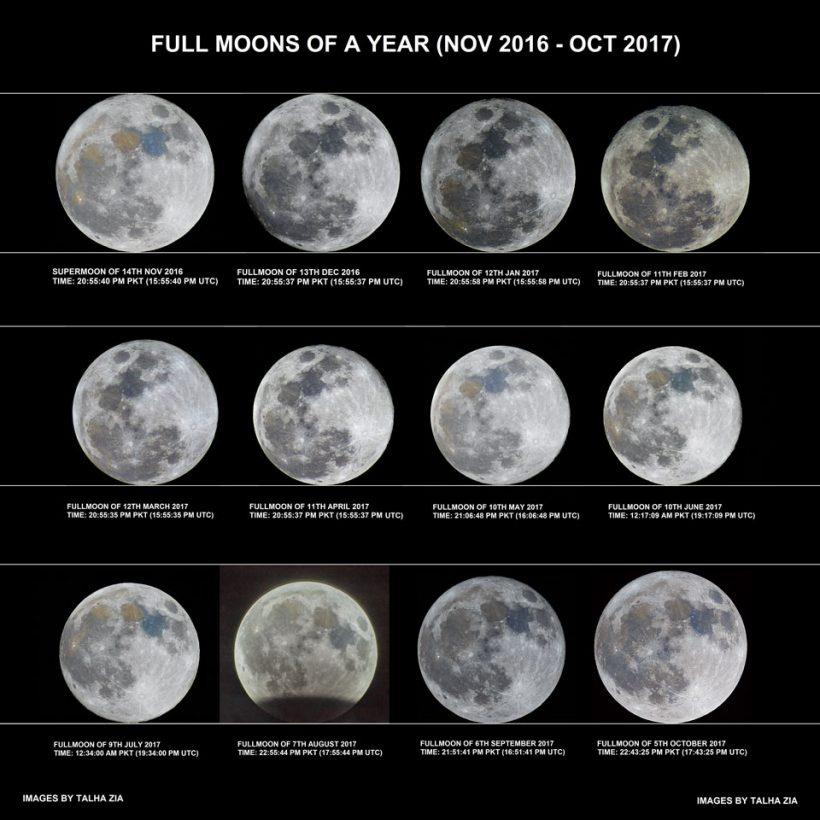 Günün Gökbilim Görüntüsü – 05.11.2017 – Dolunayların Bir Yılı